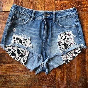 Disney Mickey Mouse cheeky jean shorts